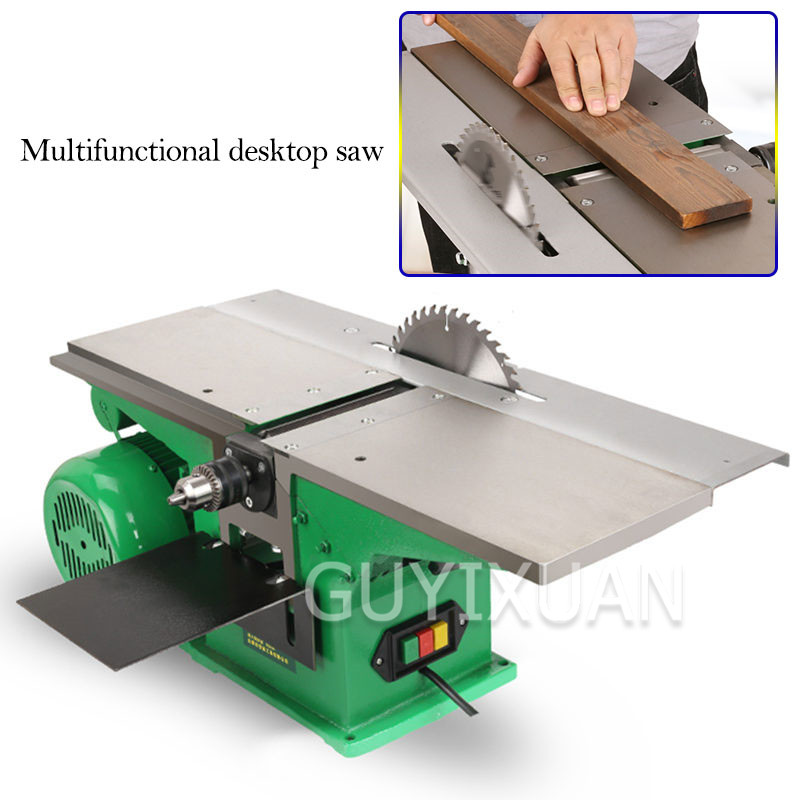 3 In 1 Multi-function Woodworking Table Planing Small Table Saw Table Drill Body Cutting Machine Planer Electric Planer