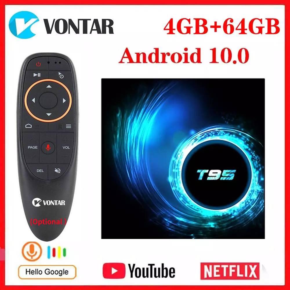 Vontar T95 Android 10.0 TV Box Allwinner H616 Quad Core 4GB RAM 64GB ROM 6K Wifi Media Player Google Youtube 2G/16G Set Top Box