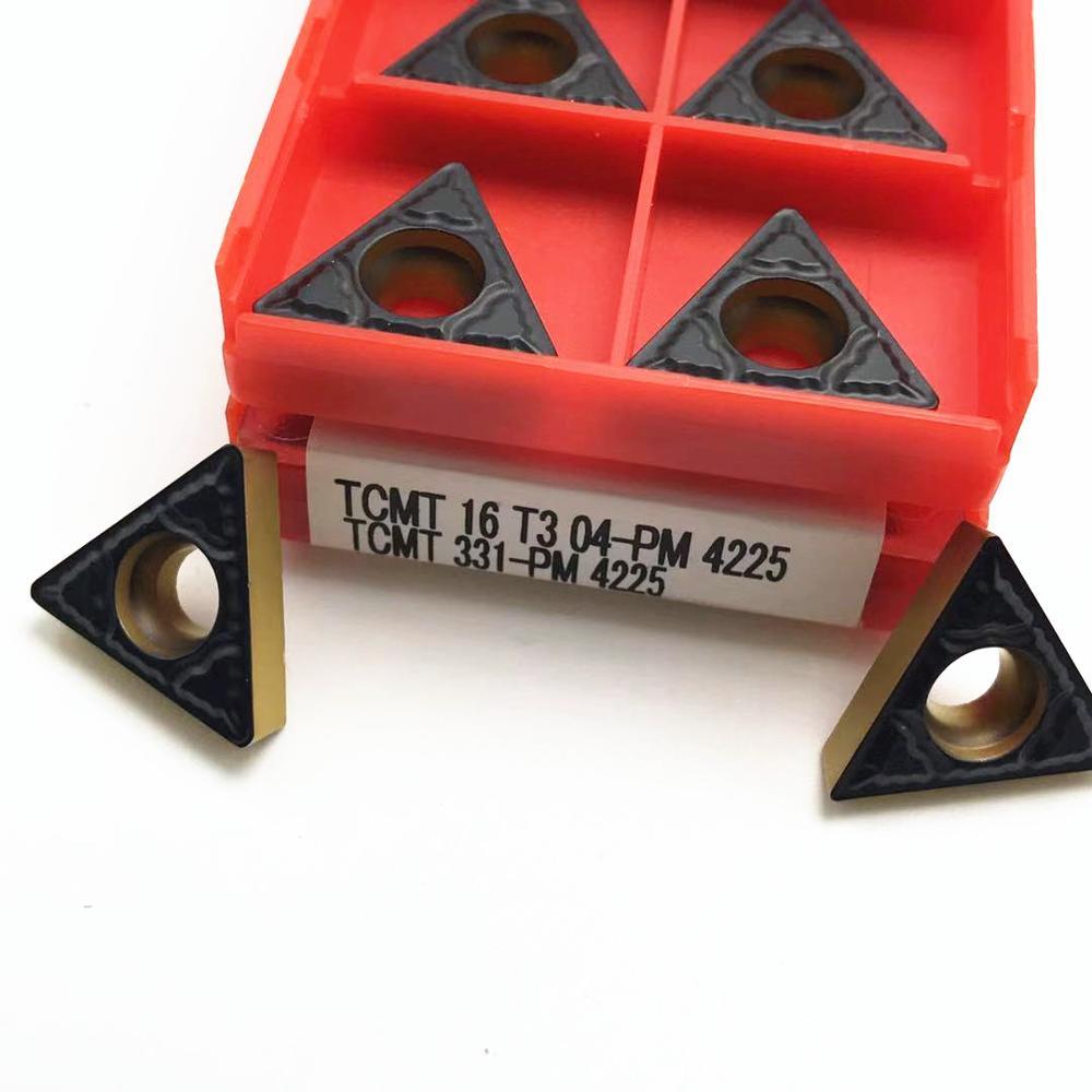 10PCS High Quality External Turning Tool TCMT 16T304 TCMT 16T308 PM4225 Carbide CNC Turning Tool TCMT16T304 Turning Insert