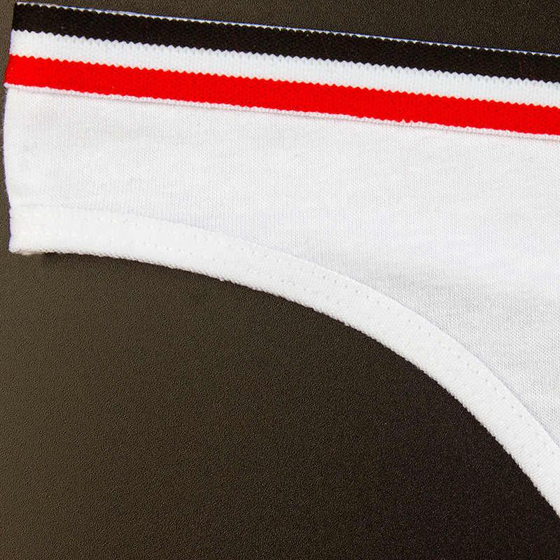 Sederhana Desain Gaya Sporty Celana Dalam Katun String Thong Seamless Celana Pakaian Dalam Seksi Lembut Fashion Wanita Pakaian