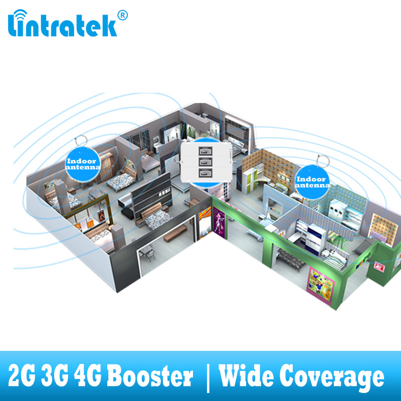 Image 5 - lintratek Tri Band Cellular Repeater GSM 900 UMTS 2100 1800 Mobile phone Signal Booster 70dB Gain 2G 3G 4G internet Amplifier-in Signal Boosters from Cellphones & Telecommunications