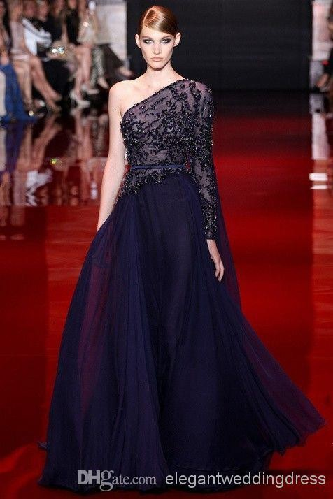 Robe De Soiree Style New Sexy Custom Beaded Long One-Shoulder Formal Evening Prom Gown 2020 Mother Of The Bride Dresses