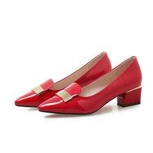 Marlisasa sapatos azul feminino bonito vermelho apontou toe sapatos de salto para noite clube festa senhora casual preto escritório bombas de salto h5997
