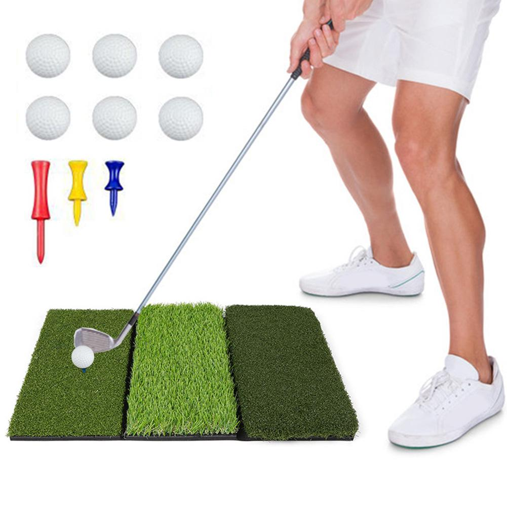 Foldable Multi-function Golf Simulated Training Practice Lawn  Training Turf Grass Mat Tee Holder Foam Residential Golf Accessor