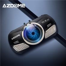AZDOME M11 DVR 24H монитор парковки Автомобильная камера мини Dashcam двойной объектив Ночное Видение Поддержка gps 1080P заднего вида видеорегистратор