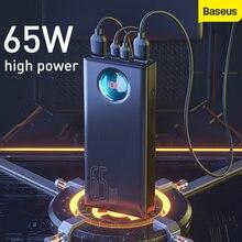 Baseus 65 Вт внешний аккумулятор 30000 мАч qc30 Быстрая зарядка