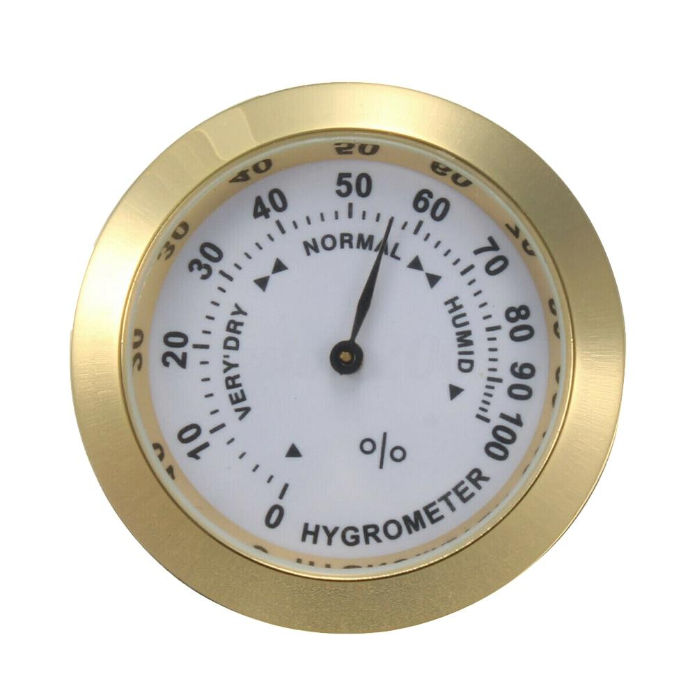 37MM Pointer Accessories Round Glass Moisture Meter For Humidor Analog Hygrometer Humidity Gauge Guitar Violin Sensitive Indoor