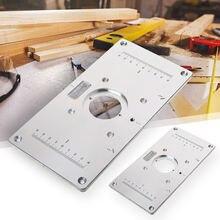 Вставная пластина для фрезерного стола с вставным кольцом маршрутизатора