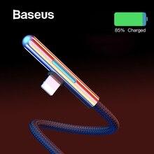 Светодиодный usb-кабель Baseus для iPhone XR 2.4A для быстрой зарядки iPhone 8 XS Max USB кабель локоть красочный постепенный свет Кабо USB провод USB зарядное устройство быстрая зарядка For iPhone 8 7 7Plus 6 6S