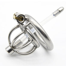 New Super Small Male Chastity Device 45MM Adult Cock Cage With Urethral Catheter BDSM Sex Toys Stainless Steel Chastity Belt(China)