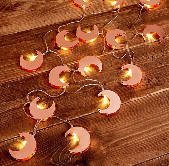 LED Lamp String Moon Lamp String Ins Room Decorative Lamp String Wedding Festival Lights 1m 10 Led