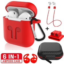 6IN1 capa,cases for AirPods 1 2 Sport Silicone Candy Color for Air Pods i pods case Soft Earphone Case for Air Pods Cute Cover