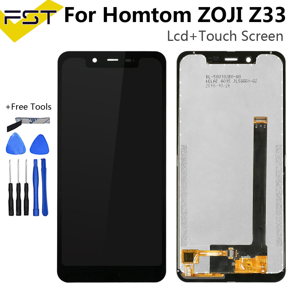 5.85''Black For Homtom Zoji Z33 LCD Display+Touch Screen Digitizer Assembly For Zojii Z33 Accessory+Tools+Adhesive image