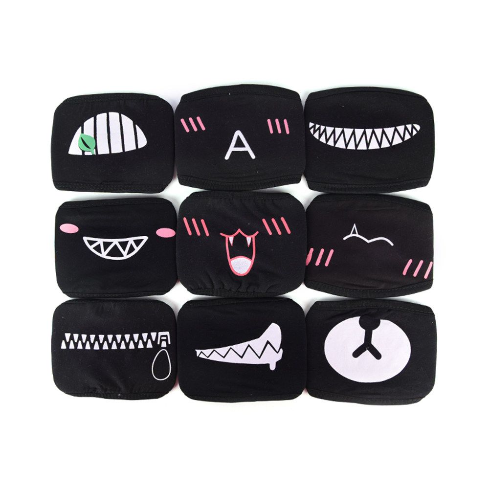 Mouth Face Mask <font><b>Unisex</b></font> Cotton Dustproof Mouth Face Mask Anime Cartoon Lucky Bear Women Men Muffle Face Mouth Party Masks image