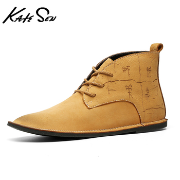 us size classical retro mens boots genuine leather lace up ankle boots zip work safety boots man winter shoes Winter Men's Genuine Leather Boots 2020 Fashion High-top Oxford Shoes Classic Retro Chelsea Boots Brand Lace-up Ankle Plus Size