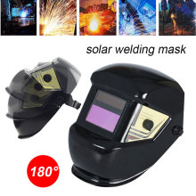 Solar Auto Darkening Welder Mask Sparkproof Anti-Glare Lens Protect Welding Helmet Head-Mounted Black 1/15000S Grinding