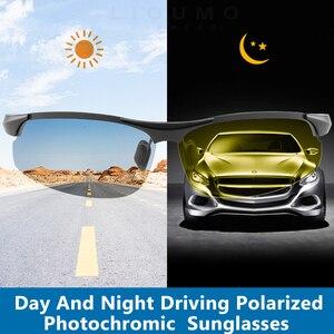 Image 2 - Photochromic Kính Mát Nam Nữ Ngày Đêm Với Phân Cực Sự Đổi Màu Kính Mắt Tắc Kè Hoa Mặt Trời Kính Chống Ống Kính