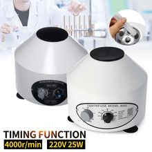 50W 220V 4000rpm/min Timing Centrifuge Laboratory Electric Centrifuge prp Isolate Serum Bubble Removal Medical Practice Machine