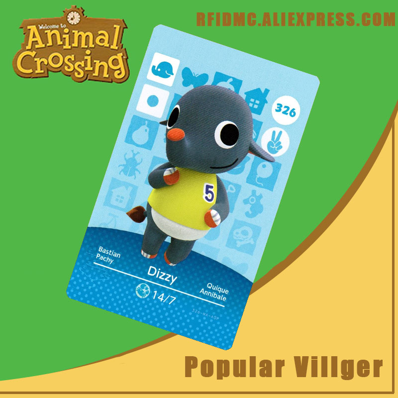 326 Dizzy Animal Crossing Card Amiibo For New Horizons