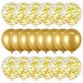 Набор воздушных шаров с конфетти, 12 дюймов, металлические шары из латекса, декор для свадьбы, нового года