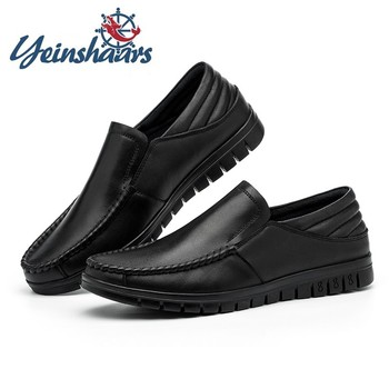 Men Loafers Casual Luxury Slip on Shoes Genuine Leather Flats Formal Shoes High Quality Comfortable Soft Gents Shoes Men Loafers genuine leather slip on men loafers dress flats shoes big size 46 luxury brand loafers shoes fashion casual men shoes 8820