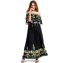 Sexy Bohemian Pregnancy Dress Maternity Clothes Holiday Party Women Tassel One Shoulder Beach