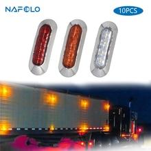 10 adet araba LED yan gümrükleme lambası kuyruk ters dönüş sinyal ışığı kamyon römork kamyon UTE uyarı sis park aydınlatma çubuğu