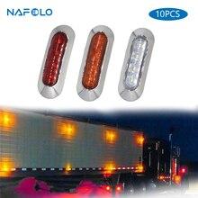 10PCS 자동차 LED 측면 통관 램프 꼬리 역 회전 신호등 트럭 트레일러 트럭 UTE 경고 안개 주차 조명 바