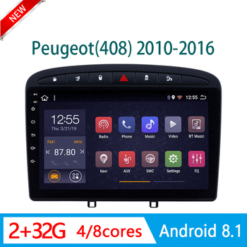 RAM2G car radio For Peugeot 408 308 2010-2016 central Multimedia system DVD Player head unit DSP WIFI 1din Android mirror link image