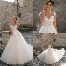 Кружевное свадебное платье с v образным вырезом рукавами крылышками