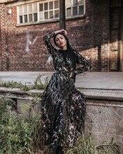 אופנה נצנצים ציצית העבאיה טורקית שמלות חיג אב מוסלמי שמלת דובאי Abayas לנשים קפטן Marocain קפטן אסלאמי בגדים