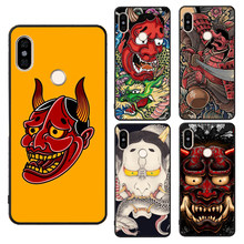 Japanese Hannya Mask Case For Xiaomi Redmi Note 9 9S 7 8 Pro 8T 7A 8A K30 Mi 9T 9 SE 10 Pro A3 Max3 Mix3(China)