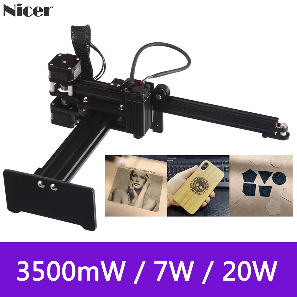 3500mW/7W/<font><b>20W</b></font> Portable <font><b>Laser</b></font> Engraving Machine Mini <font><b>CNC</b></font> <font><b>Laser</b></font> Engraving Cutting Machine Wood Router For Metal Wood Plastic image