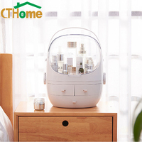 CTHome Large Capacity Makeup Organizer Cosmetic Storage Box Portable Jewelry Container Dustproof Drawer Waterproof with Lid