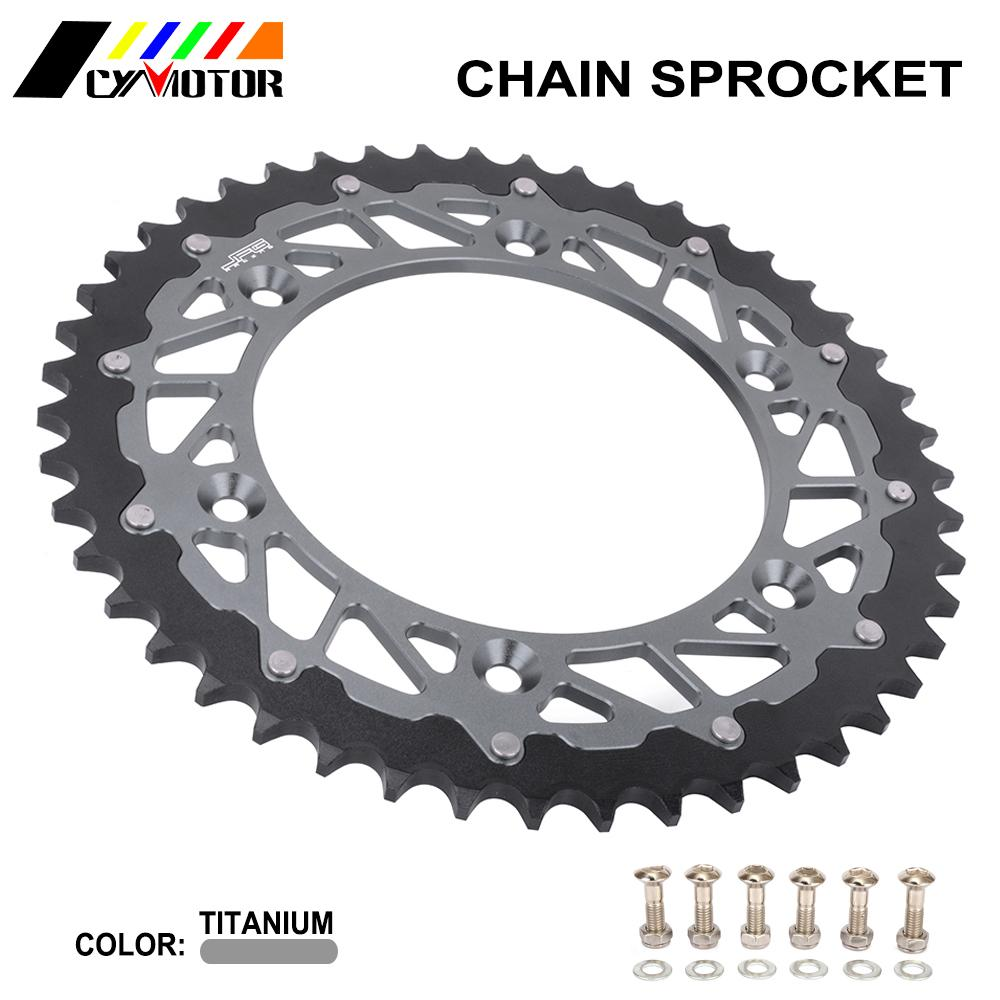 Motorcycle CNC 47T Rear Chain Sprocket For BMW <font><b>G310R</b></font> F650 G650 GS Dakar ETX Pegaso TR Terra Strada Jonathan 125 350 600 650 image