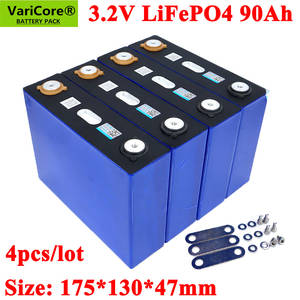Battery-Can Make-Boat-Batteries Lithium-Iron 90000mah 90ah Lifepo4 Varicore 4PCS
