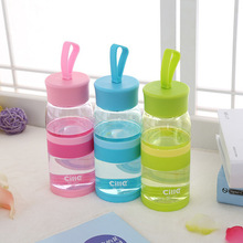 Plastic cup water creative sports bottle student space Environmentally friendly material