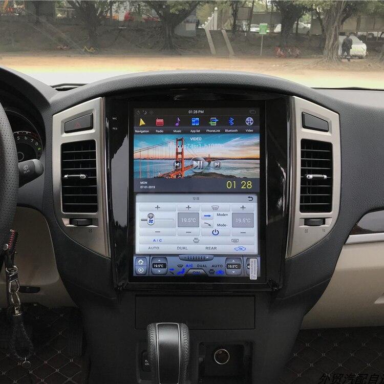 "Tesla style Android 12.1"" Car DVD Video Player GPS Navigation For Mitsubishi Pajero 4 2006-2014 radio stereo wifi bluetooth"