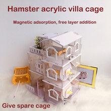 Hamster Cage Acrylic Foundation-Cage Pig Villa Dutch Small Bear Added-Layer Golden-Silk