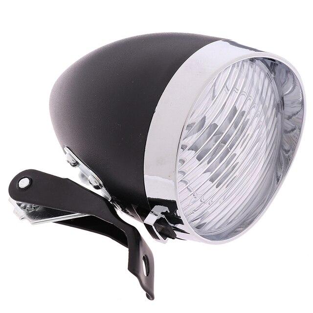 New Retro Bicycle Bike 3 LEDs Front Lights Headlight Vintage Flashlight Lamp ORP