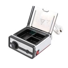 Стоматологическое 3-well восковой нагреватель оборудование Стоматологическая лаборатория восковой нагревательный аналоговый окунутый горшок