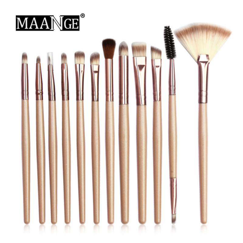 12 Pcs/set Makeup Brushes Set Eye Shadow Make Up Brushes Foundation Powder Lip Eye Make Up Brush Cosmetics Makeup Brush TSLM1