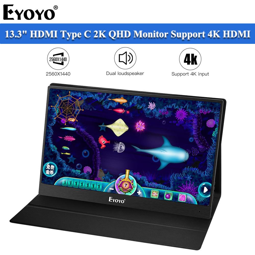 Eyoyo EM13J 4K HDMI Portable Gaming Monitor 13.3\