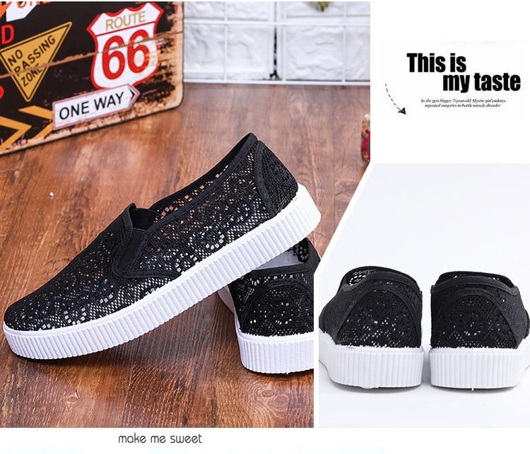 femininos rendas confortáveis sapatos planos pretos sapatos casuais