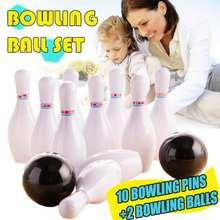 12 шт., Детский набор для боулинга, 10 контактов + 2 шара для боулинга