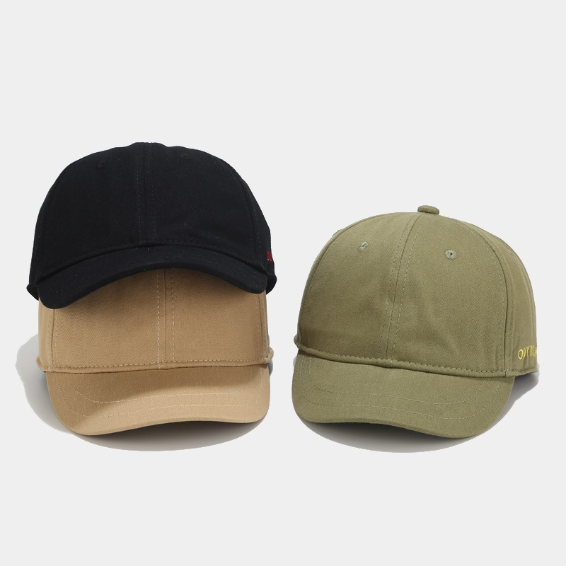 Hat Women Short-brimmed Baseball Cap Korean Soft Top Letter Embroidery Hat Female Japanese Small Fresh Casual Small Brim Cap