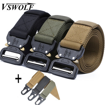 Tactical Belt Army Military Nylon Jeans Belt Men High Quality Metal Buckle Automatic Ceinture Fashion Waist Strap Hunting Cinto