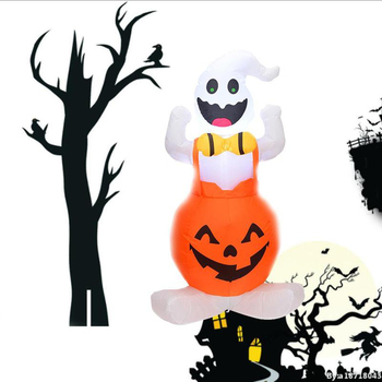 Halloween Decorations Haunted House Decoration Ghost 1.2 Meters Long Pumpkin Inflatable Halloween decorations