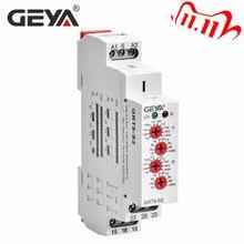 GEYA מחזור זמן ממסר מתכוונן AC220V 16A AC/DC12V 240V חוזר ממסר SPDT טיימר חשמלי מגן AsymmetricTime ממסר