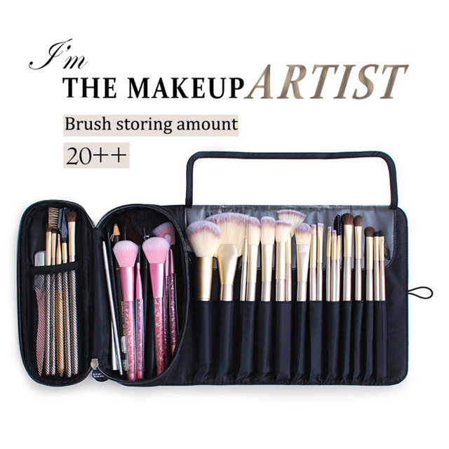 functional Cosmetics Case Makeup Brushes Bag Travel Organizer For Make Up Brushes Protector Coffin  Makeup Tools Rolling Pouch 5